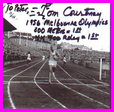 1956 Melbourne 800m Gold TOM COURTNEY Hand Signed Photo