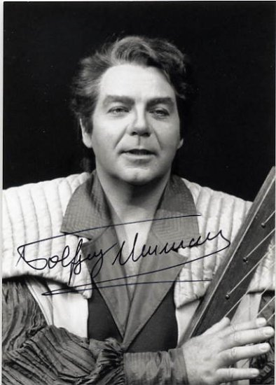 Notable Wagner Tenor WOLFGANG NEUMANN Hand Signed Photo 4x6