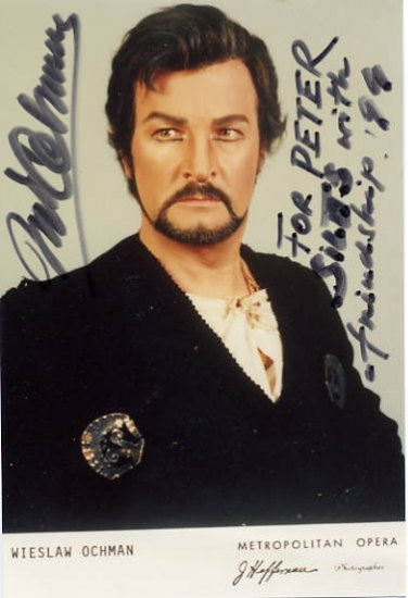 World-Famous Polish Tenor WIESLAW OCHMAN Hand Signed Photo 1994