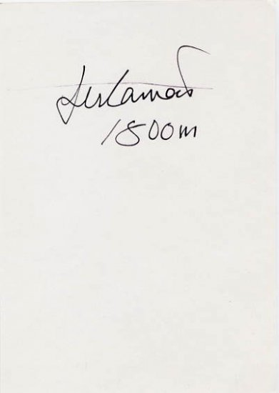 1992 Barcelona 1500 m Bronze MOHAMED SULEIMAN Hand Signed Card