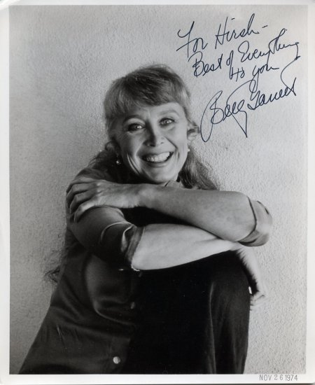Actress BETTY GARRETT Hand Signed Photo 8x10 from 1974