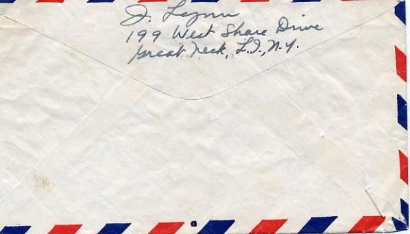 American Actor JEFFREY LYNN Autographed Envelope from 1949