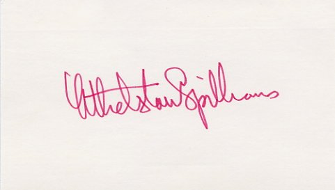 Famous Geophysicist & Oceanographer ATHELSTAN SPILHAUS Hand Signed Card