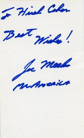 Weightlifter & Mr. America JOE MEEKO Autograph Note Signed