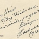 American Actress BARBARA HALE Autograph Note Signed from 1981