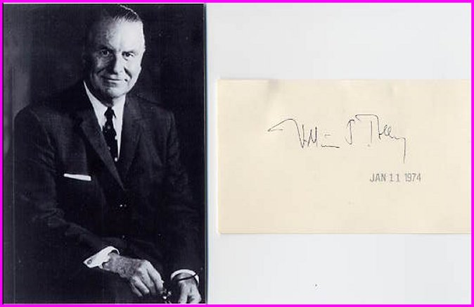American Educator Syracuse University WILLIAM TOLLEY Autograph 1974 & Pict