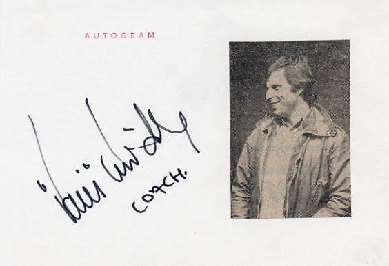 Swedish Ice Hockey Player & Coach HANS LINDBERG Autographed Card 1976