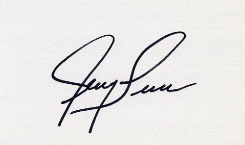 1960 Rome Basketball Gold & NBA JERRY LUCAS Hand Signed Card
