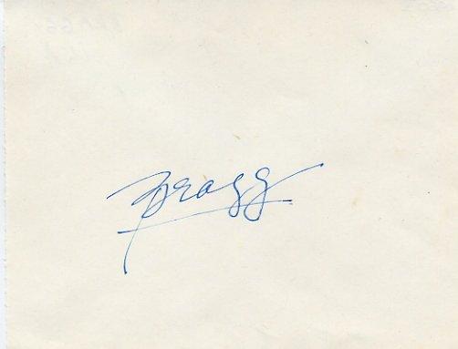 1960 Rome Pole Vault Gold DON BRAGG Autograph