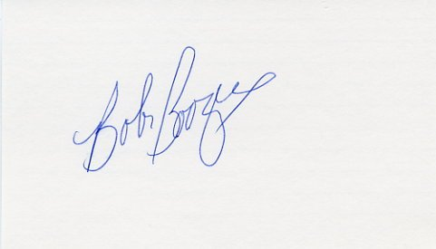 1960 Rome Basketball Gold & NBA BOB BOOZER Hand Signed Card