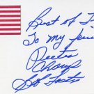 Light Heavyweight Boxing Champion BOB FOSTER Hand Signed Card 1997