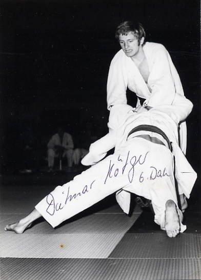 1972 Munich Judo Bronze DIETMAR HOTGER Hand Signed Photo 4x6