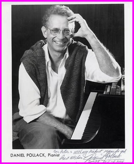 American Pianist DANIEL POLLACK Hand Signed Photo 8x10