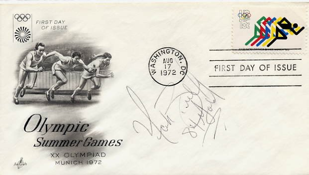 1984 Los Angeles Boxing Gold MARK BRELAND Hand Signed FDC