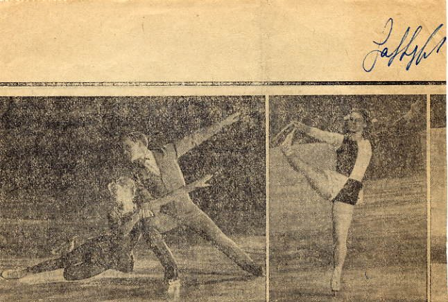 1969-70 Figure Skating World Champion GABY SEYFERT Signed Newspaper Cut 1968