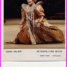 British Mezzo-Soprano SARAH WALKER Hand Signed Card & Pict