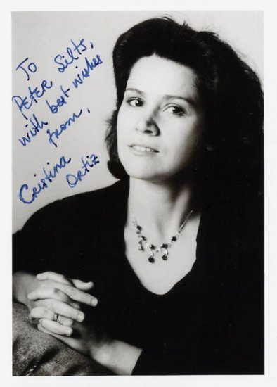 Brazilian Pianist CRISTINA ORTIZ Hand Signed Photo 5x7