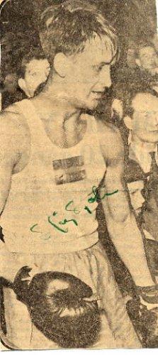 1952 Helsinki Boxing Bronze STIG SJOLIN Autograph 1950s