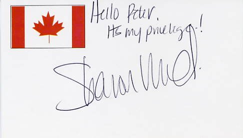 Famous Canadian Mountaineer SHARON WOOD Hand Signed Card