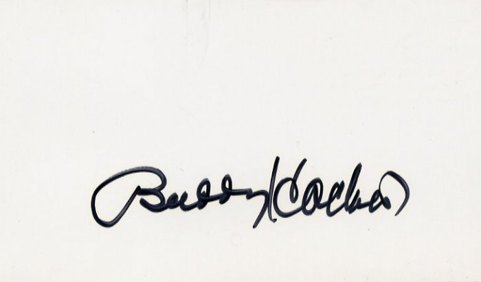 American Comedian & Actor BUDDY HACKETT Hand Signed Card