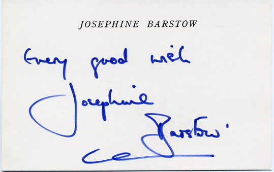 English Soprano JOSEPHINE BARSTOW Hand Signed Card