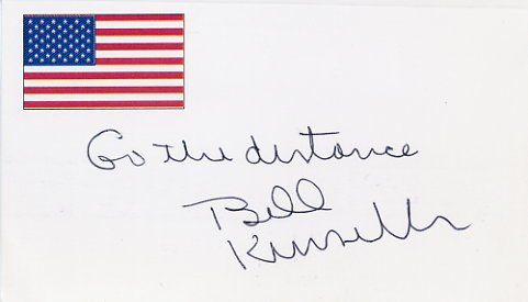 Novelist W. P. KINSELLA Hand Signed Card from 1996
