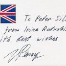 Prominent Russian Poet, Writer & Dissident IRINA RATUSHINSKAYA Hand Signed Card 1996