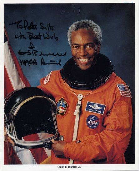 NASA Astronaut GUION BLUFORD, Jr Hand Signed Photo 8x10