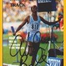 Three-time Olympian & 1987 1500m World Champion ABDI BILE Hand Signed Card 1988