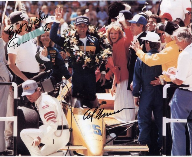 Four-time Indy 500 Winner AL UNSER Hand Signed Photo 8x10