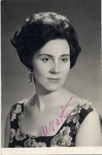 Legendary Estonian Coloratura Soprano MARGARITA VOITES Hand Signed Photo 1969