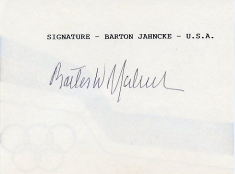 1968 Mexico City Yachting Gold BARTON JAHNCKE Hand Signed Card