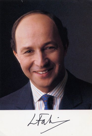 1984-86 French Prime Minister LAURENT FABIUS Hand Signed Photo 4x6