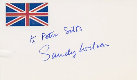 English Composer & Lyricist SANDY WILSON Hand Signed Card