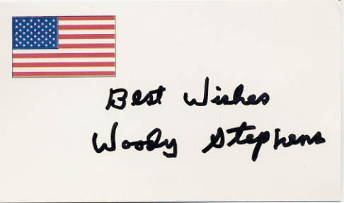 Famous Horse Racing Trainer WOODY STEPHENS Autographed Card
