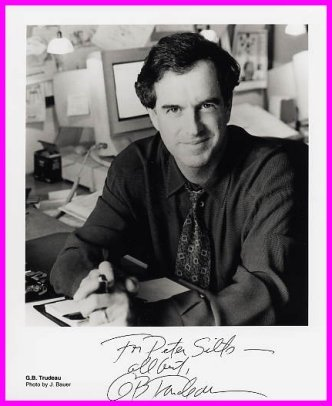 Pulitzer Prize Cartoonist GARY TRUDEAU Hand Signed Photo 8x10