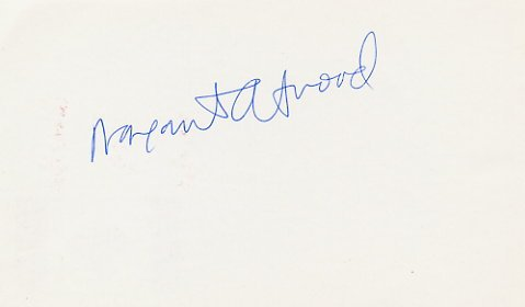 Booker Prize Canadian Writer MARGARET ATWOOD Hand Signed Card