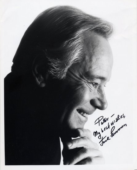 Award-Winning Actor JACK LEMMON Hand Signed Photo 8x10