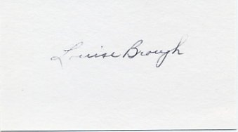 Tennis - Four-Time Wimbledon Champion LOUISE BROUGH Hand Signed Card