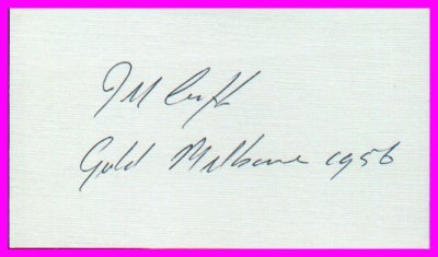 1956 Melbourne Yachting Gold JACK CROPP Hand Signed Card