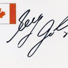 1994 Lillehammer Ice Hockey Silver & NHL GREG JOHNSON Hand Signed Card