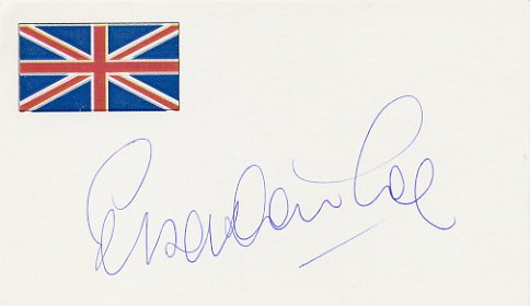 Legendary WR Miler & Olympic Champion SEBASTIAN COE Hand Signed Card