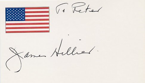 Canadian Scientist & Inventor of Electron Microscope JAMES HILLIER Hand Signed Card