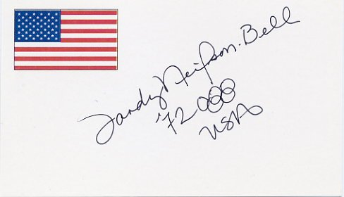 1972 Munich Swimming Gold SANDRA NEILSON Hand Signed Card