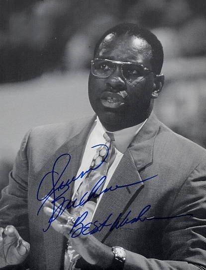 1976 Montreal Basketball Gold & NBA QUINN BUCKNER Hand Signed Photo 8x11