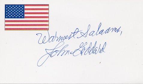World-Famous Adventurer JOHN GODDARD Autographed Card