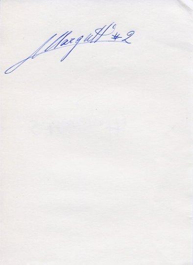 Italian Volleyball Star STEFANO MARGUTTI  Autograph 1991