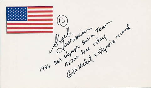 1996 Atlanta Swimming Gold SHEILA TAORMINA Hand Signed Card