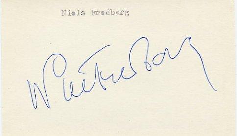 1972 Munich Cycling Gold NIELS FREDBORG  Autograph 1980