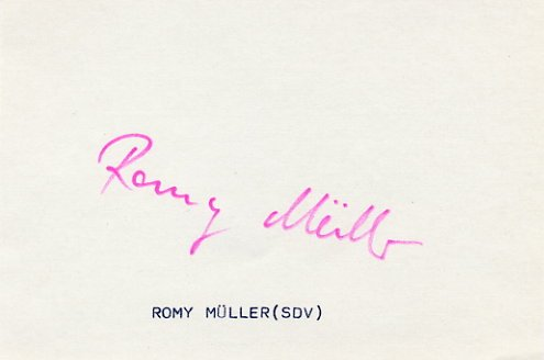 1980 Moscow 4x100m Relay Gold ROMY MULLER  Autograph 1980